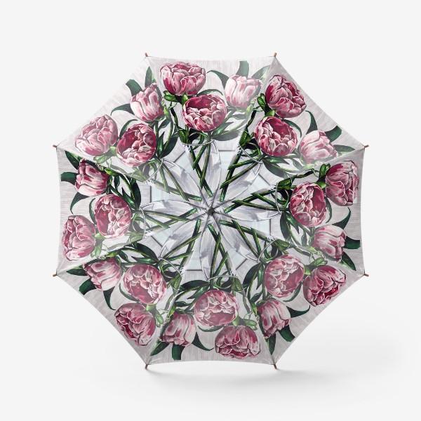Зонт «Пионы в вазе. Маркеры»