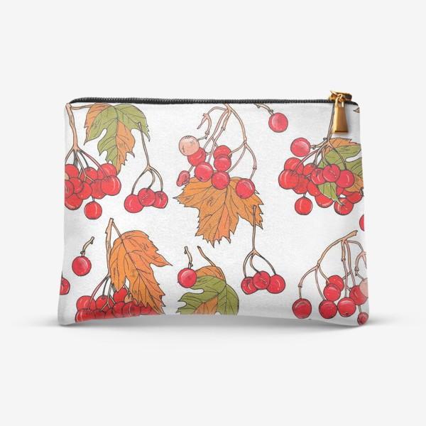 Косметичка «калина ягоды и листья»