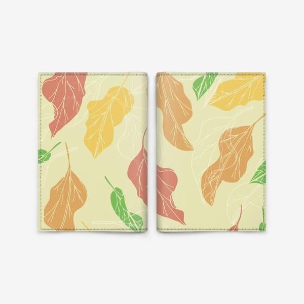 Обложка для паспорта «цветные листья»