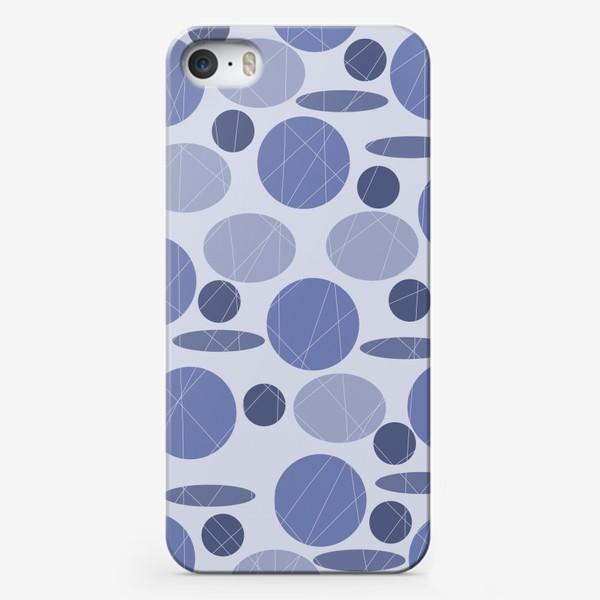 Чехол iPhone «Паттерн, круги и овалы, сиреневый »