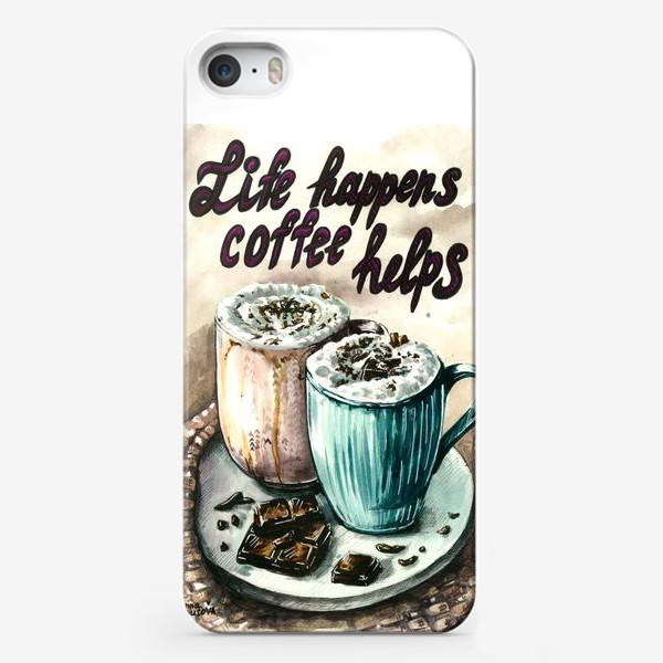 Чехол iPhone «Кофе акварель»