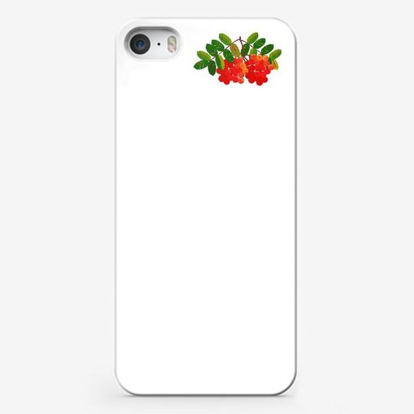 Чехол iPhone «Рябиновая кисть»