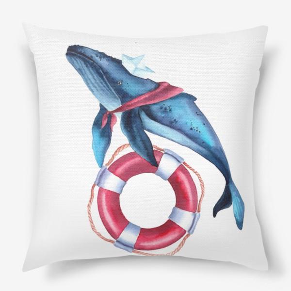 Подушка «Кит морячок»