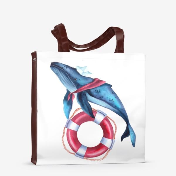 Сумка-шоппер «Кит морячок»