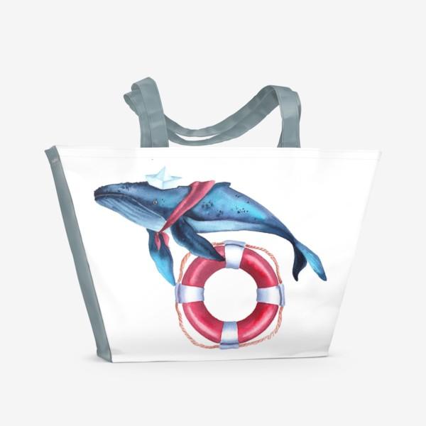 Пляжная сумка «Кит морячок»