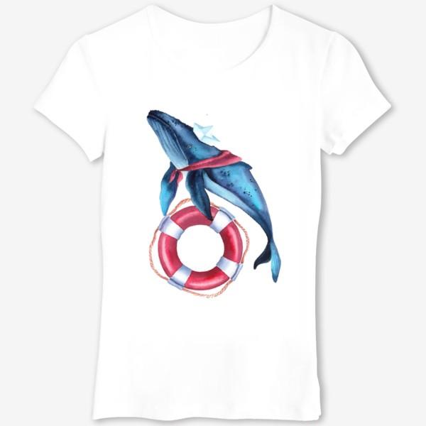 Футболка «Кит морячок»