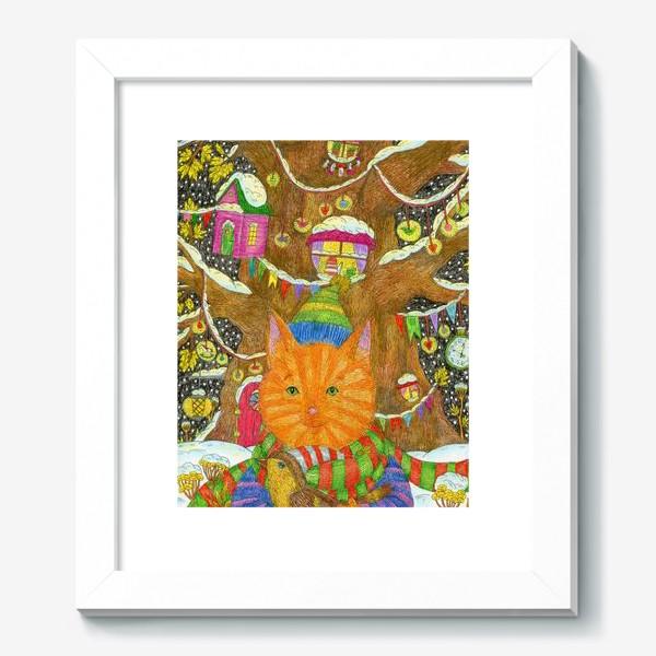 Картина «Милый рыжий кот в Новый год»