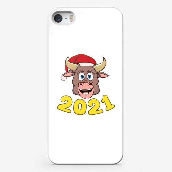 Чехол iPhone «бык символ нового года 2021»