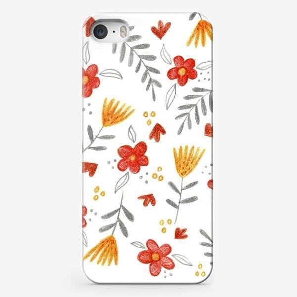Чехол iPhone «Осенний цветочный принт»