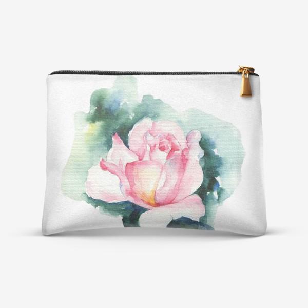 Косметичка «Роза акварелью»