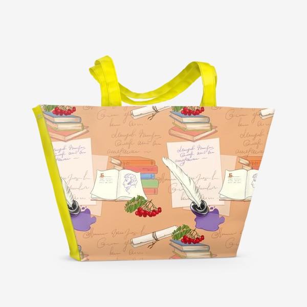 Пляжная сумка «Русский язык и литература, тематический паттерн»