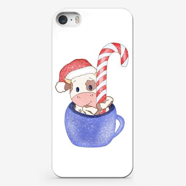 Чехол iPhone «Новогодний принт»