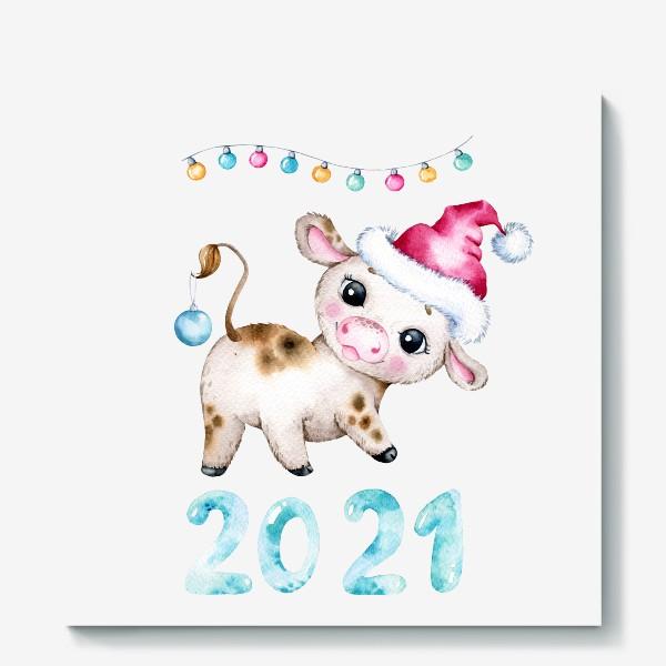 Холст «Год быка 2021»