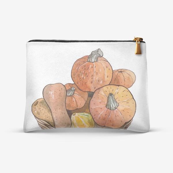 Косметичка «Оранжевые тыквы»