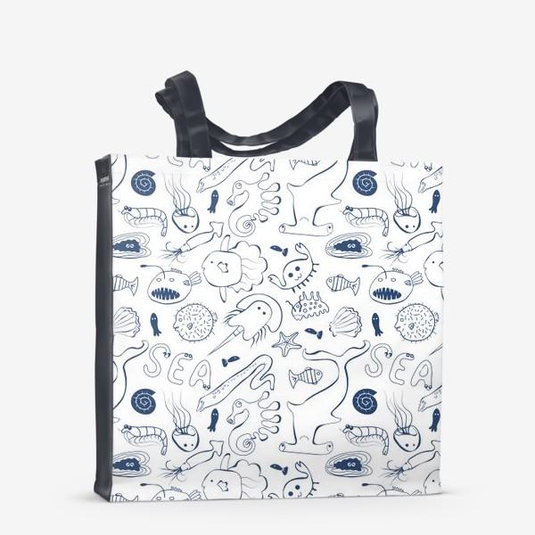 Сумка-шоппер «Морская живность»