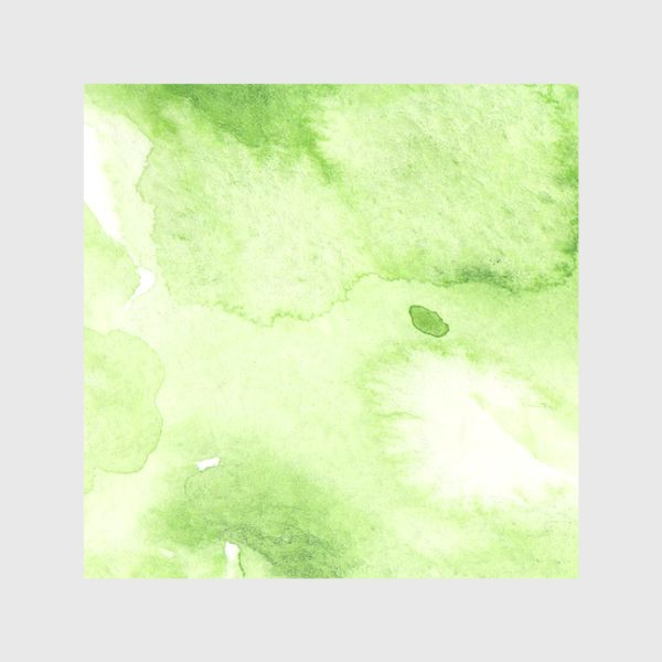 Шторы «Watercolor abstraction, green background, handmade. »
