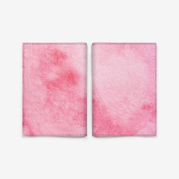 Обложка для паспорта «Watercolor abstraction pink background.»