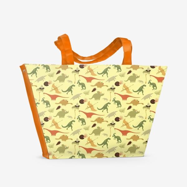 Пляжная сумка «Динозаврики»