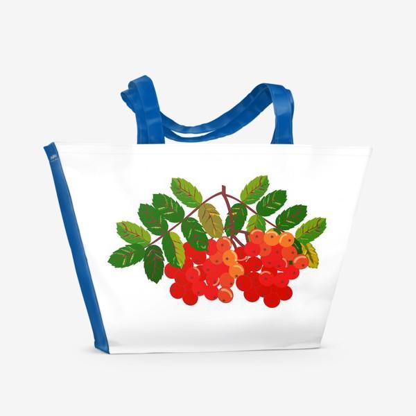 Пляжная сумка «Рябиновая кисть»