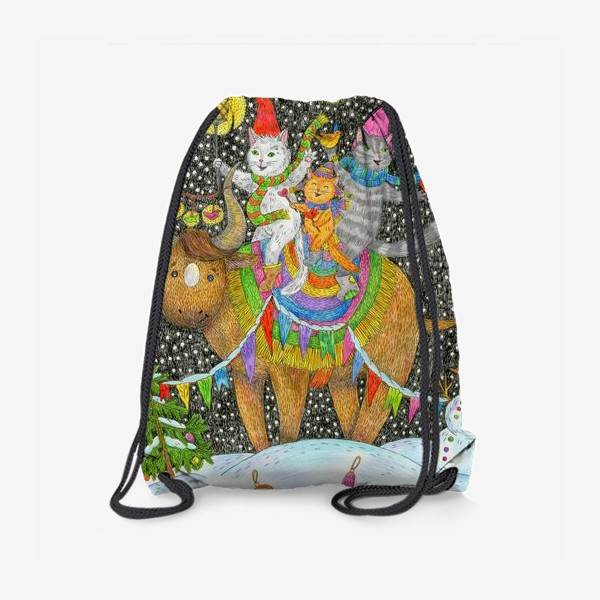 Рюкзак «Год быка и веселые котики»