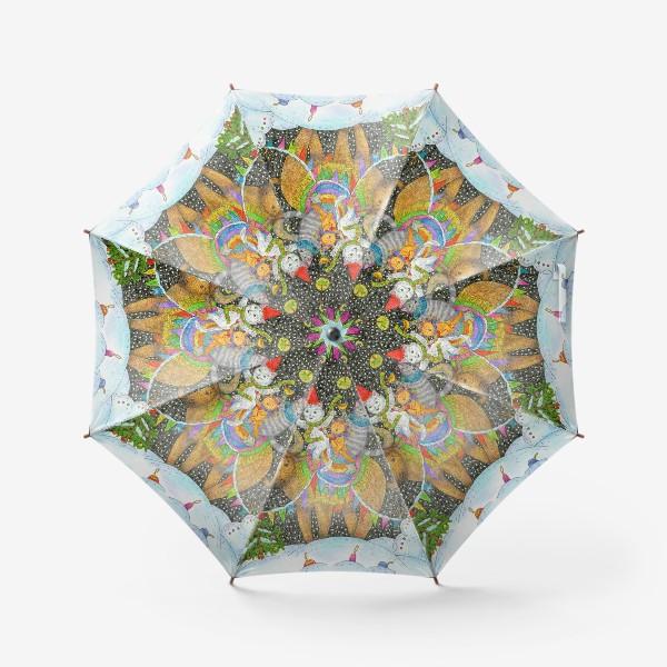 Зонт «Год быка и веселые котики»