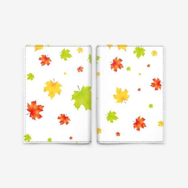 Обложка для паспорта «Листопад кленовых листьев»