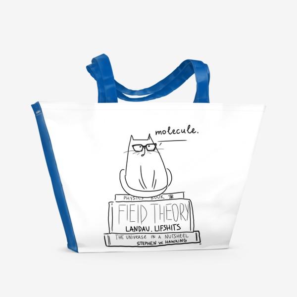 Пляжная сумка «Для физика. Кот с умным видом »
