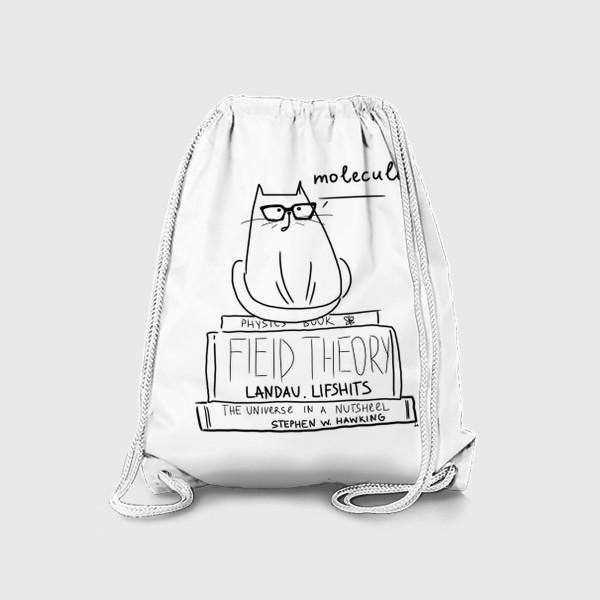 Рюкзак «Для физика. Кот с умным видом »