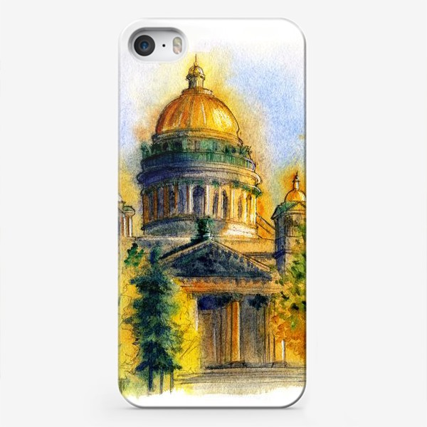 Чехол iPhone «Осенний Исаакиевский собор, Санкт-Петербург»