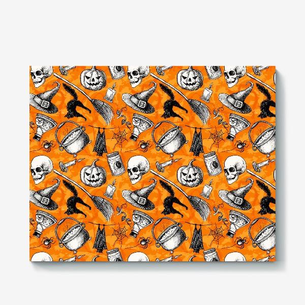 Холст «Винтажный Хэллоуин»