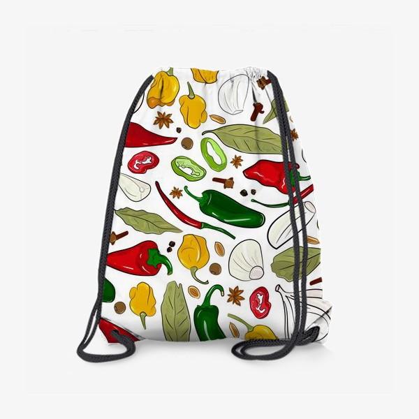 Рюкзак «острые перцы и специи»