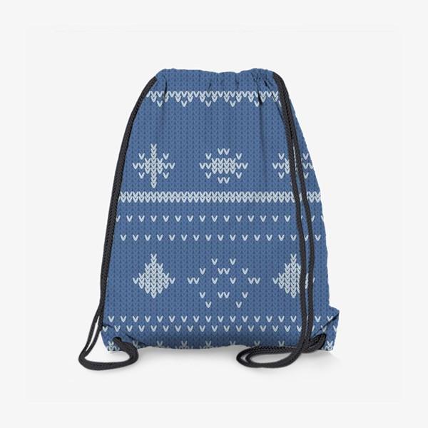 Рюкзак «вязаный узор с оленями»