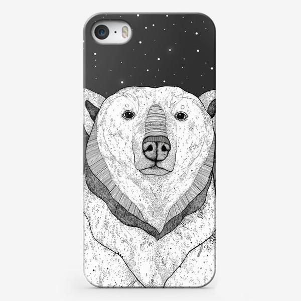Чехол iPhone «Белый медведь. Мишка полярный. »