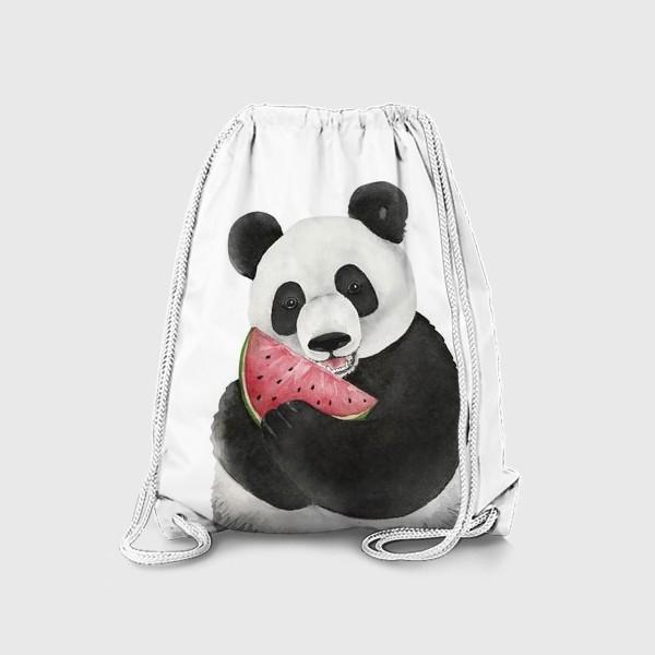 Рюкзак «милый мишка панда с долькой арбуза »