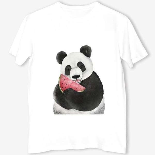 Футболка «милый мишка панда с долькой арбуза »