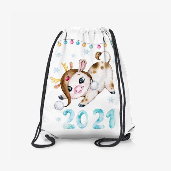 Рюкзак «Новогодний Бычок 2021»