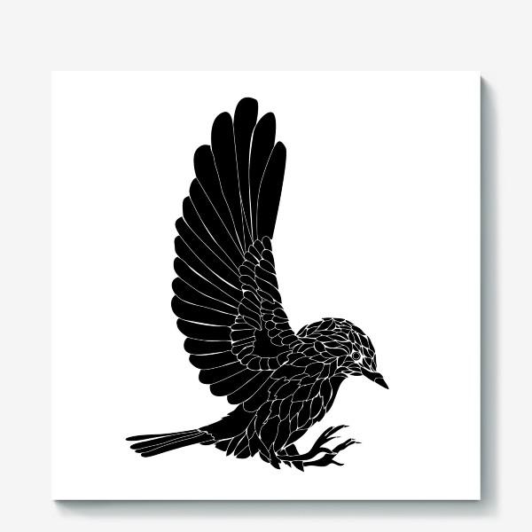Холст «графическая птица »