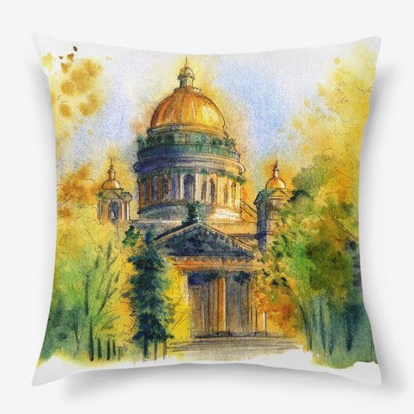 Подушка «Осенний Исаакиевский собор, Санкт-Петербург»