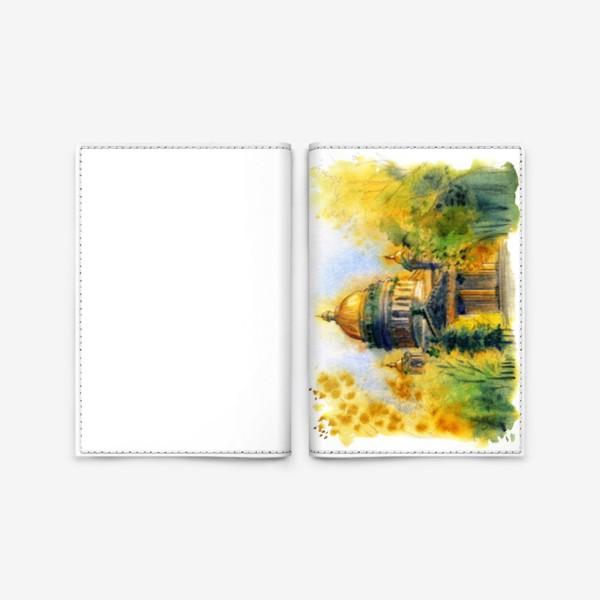 Обложка для паспорта «Осенний Исаакиевский собор, Санкт-Петербург»