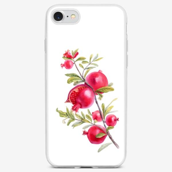 Чехол iPhone «Изящная гранатовая ветвь»