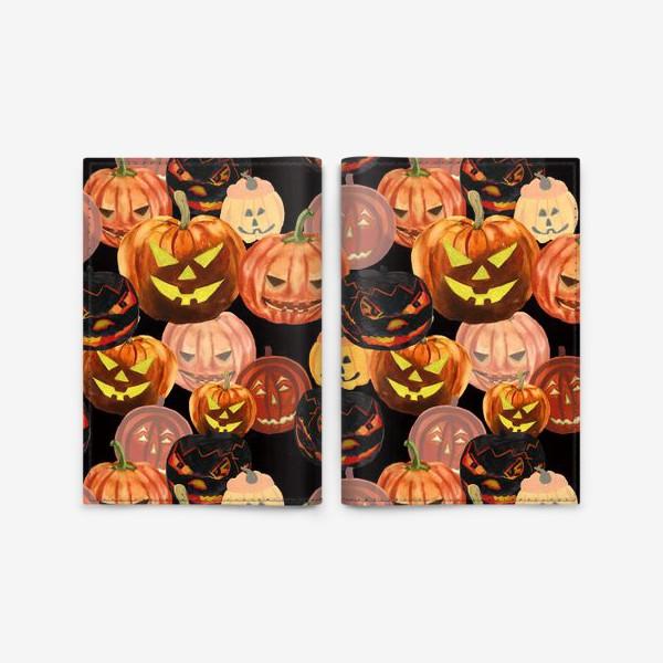 Обложка для паспорта «Темный Хеллоуин»