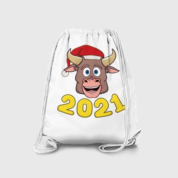 Рюкзак «бык символ нового года 2021»
