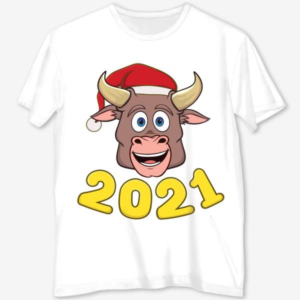 Футболка с полной запечаткой «бык символ нового года 2021»