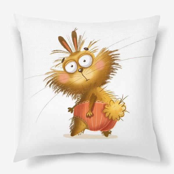 Подушка «Харизматичный кролик»