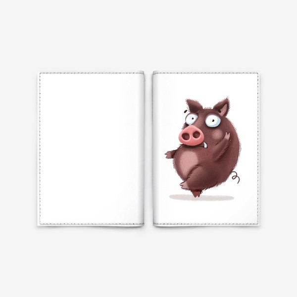 Обложка для паспорта «Дерзкий кабан»