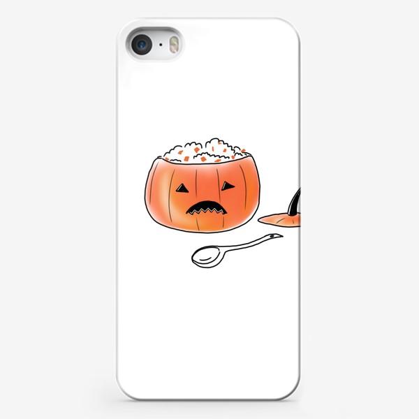 Чехол iPhone «Хеллоуин по-русски. Тыквенная каша. Halloween »