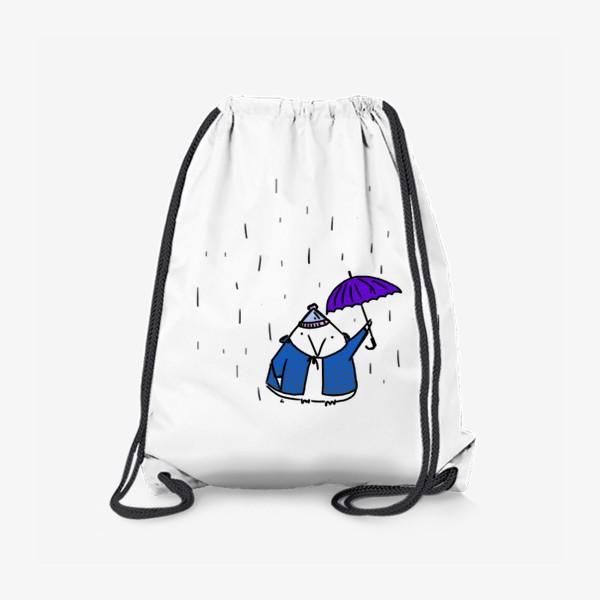 Рюкзак «Птичка под зонтиком. Осенний дождь»