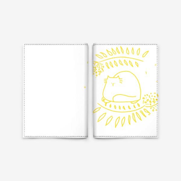 Обложка для паспорта «Желтый рябиновый кот. Осень»