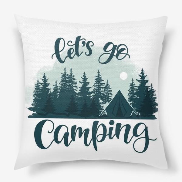 Подушка «Let's go Camping»
