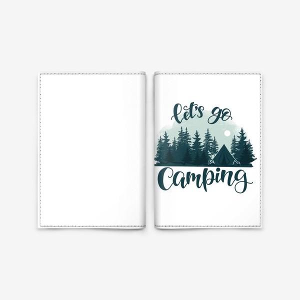 Обложка для паспорта «Let's go Camping»